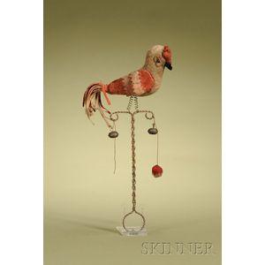 Parrot-form Felt Rattle
