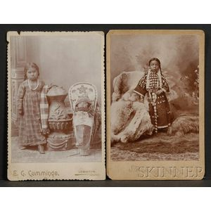Two Cabinet Card Photographs of Indian Children