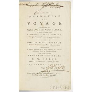 Ellis, William Wade (1751-1785) An Authentic Narrative of a Voyage Performed by Captain Cook and Captain Clerke.