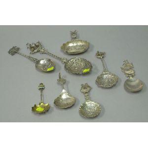 Eight Dutch/German Silver Spoons.