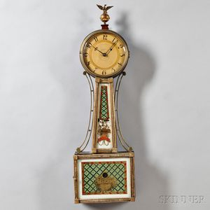 "Mahogany Gilt Front Patent Timepiece or ""Banjo"" Clock"