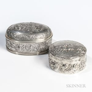 Two Continental Silver Boxes