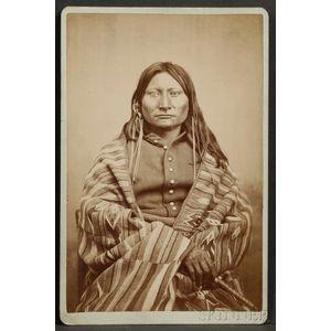 Cabinet Card Photograph of a Comanche Brave
