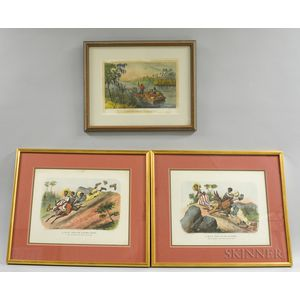 Three Currier & Ives Engravings