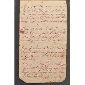Pierce, Isaac and Joseph (fl. circa 1778) Memorandum Book, Central Atlantic Region,   1770s.