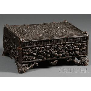 Rustic Black-painted Sewing Box