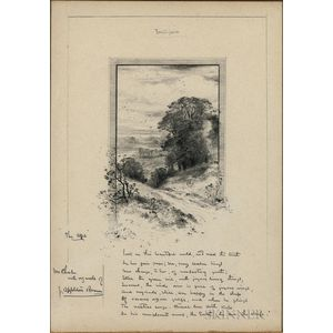 Brown, John Appleton (1844-1902) Original Signed Pencil Sketch.