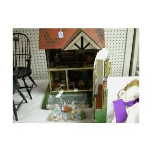 Small Doll House and Furnishings