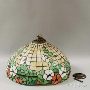 Nasturtium Art Glass Hanging Lamp