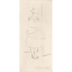 Paul César Helleu (French, 1859-1927)      Girl by a Doorway.