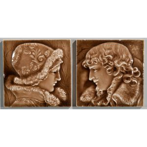 Two Providential Tile Works Art Pottery Tiles