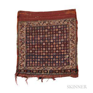 Shahsavan Soumak Bag with Stars in Grid