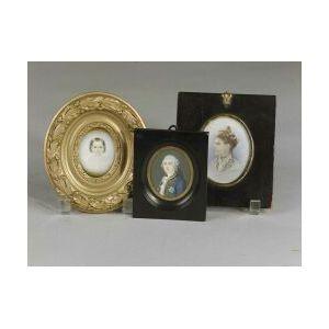 Three Miniature Portrait Paintings