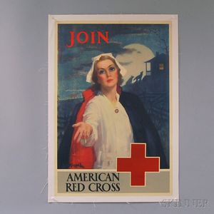 Three U.S. WWI Lithograph Red Cross Posters