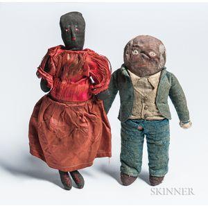 Two Cloth Dolls