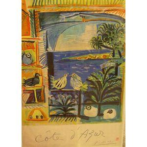 Pablo Picasso Lithograph Cote d