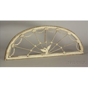 White Painted Federal Fanlight