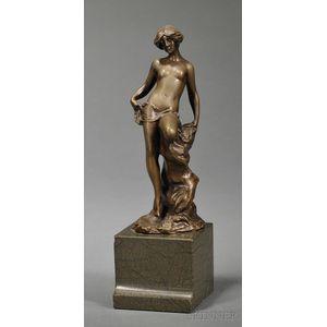 Bronze Art Nouveau Style Figure of a Nymph