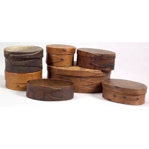 Seven Small Wooden Boxes