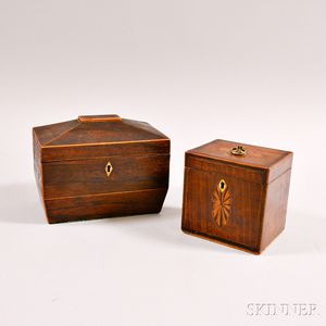 Two Georgian Inlaid Tea Caddies