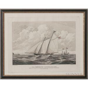 """Framed Duncan Print The """"America"""" Schooner"""