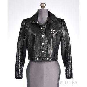 Vintage Courrèges Paris Faux-leather Cropped Jacket