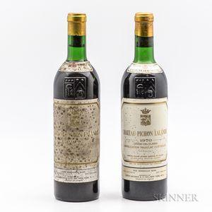 Chateau Pichon Lalande 1970, 2 bottles