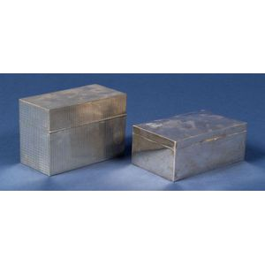 Two Silver Cigarette Boxes