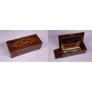 Fine Key-Wind Overture Musical Box by Humbert Brolliet
