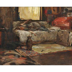 Irving Ramsey Wiles (American, 1861-1948)      Sunlight in the Studio