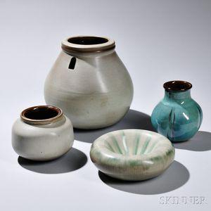 Rupert Deese (1924-2010) Four Pieces of Art Pottery