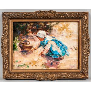 Ernest David Roth (American, 1879-1964)      Girl in Blue.