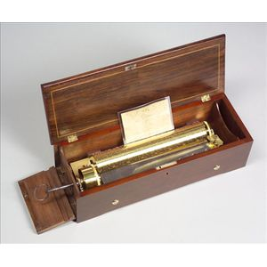 Early Key-Wind Musical Box by Henriot