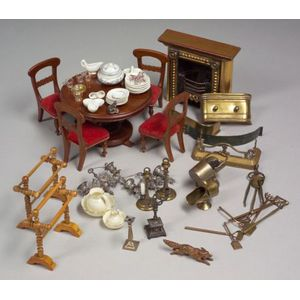 Lot of Miscellaneous Doll House Furniture