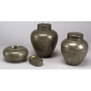 Four Pewter Pieces