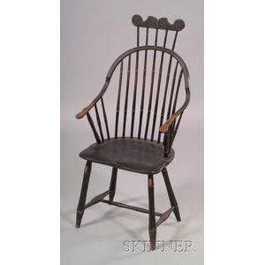 Windsor Bamboo-turned Combback Continuous Armchair
