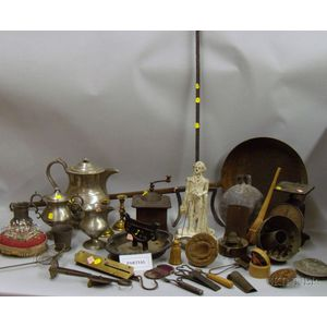 Group of Metal Kitchenware, Domestic, and Country Items