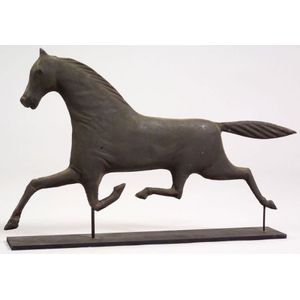 Small Molded Sheet Copper Running Horse Figure