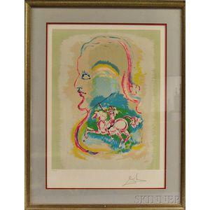 Salvador Dali (Spanish, 1904-1989)      Dreams of a Horseman