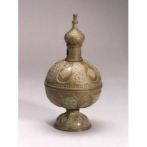 Mixed-Metal Orientalist Potpourri Incense Burner