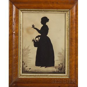 August Edouart (French/American, 1789-1861)    Silhouette Portrait of  Henrietta Watson.