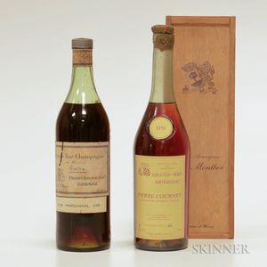 Mixed Cognac/Armagnac, 1 4/5 quart bottle 1 750ml bottle