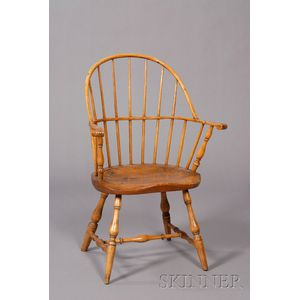 Ash and Maple Sack-back Windsor Chair