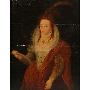 British School, 18th Century Style      Queen Elizabeth I