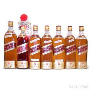 Mixed Johnnie Walker, 7 4/5 quart bottles1 quart bottle
