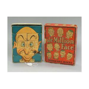 """Boxed Set of """"Ole"""" Million Faces Changeable Blocks"""