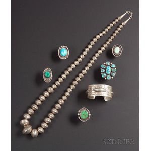 Seven Southwest Jewelry Items