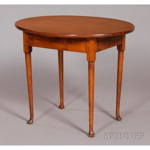 Queen Anne Maple Oval-top Table