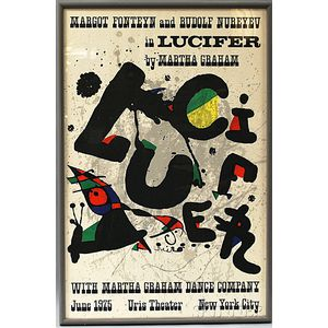 After Joan Miró (Spanish, 1893-1983)      Poster for the Martha Graham Dance Company