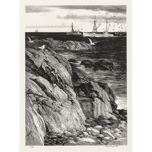 Maritime Scenes and Landscapes, Eight Works.
